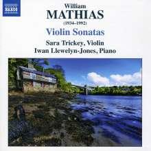 William Mathias (1934-1992): Sonaten für Violine & Klavier Nr.1 & 2, CD