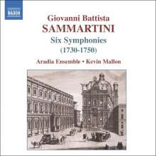 Giovanni Battista Sammartini (1701-1775): Symphonien in C,c,D,d,F,A, CD