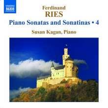 Ferdinand Ries (1784-1838): Klaviersonaten & Sonatinen Vol.4, CD