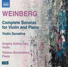 Mieczyslaw Weinberg (1919-1996): Sämtliche Violinsonaten, 2 CDs