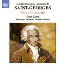 Joseph Bologne Chevalier de Saint-Georges (1745-1799): Violinkonzerte op.3,1;op.posth.Nr.2;Nr.10, CD