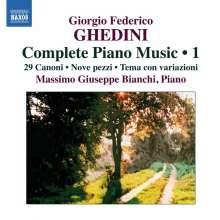 Giorgio Federico Ghedini (1892-1965): Sämtliche Klavierwerke Vol.1, CD