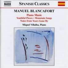 Manuel Blancafort (1897-1987): Sämtliche Klavierwerke Vol.1, CD