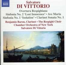 Salvatore de Vittorio (geb. 1967): Symphonien Nr.1 & 2, CD