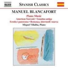 Manuel Blancafort (1897-1987): Sämtliche Klavierwerke Vol.4, CD