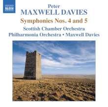 Peter Maxwell Davies (geb. 1934): Symphonien Nr.4 & 5, CD