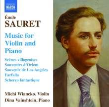 Emile Sauret (1852-1920): Werke für Violine & Klavier, CD