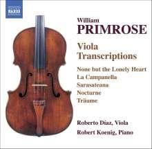 William Primrose (1904-1982): Viola-Transkriptionen, CD