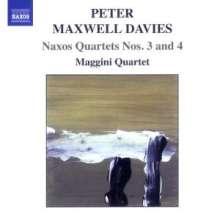 "Peter Maxwell Davies (1934-2016): Streichquartette Nr.3 & 4 ""Naxos-Quartette"", CD"