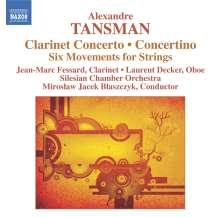 Alexandre Tansman (1897-1986): Klarinettenkonzert, CD