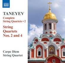 Serge Tanejew (1856-1915): Sämtliche Streichquartette Vol.2, CD