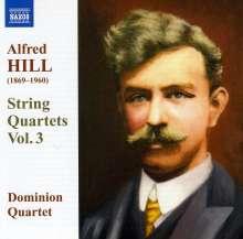Alfred Hill (1870-1960): Streichquartette Vol.3, CD