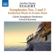 Joachim Nikolas Eggert (1779-1813): Symphonien Nr.1 & 3, CD