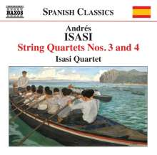 Andres Isasi (1890-1940): Streichquartette Nr.3 & 4, CD