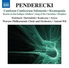 Krzysztof Penderecki (geb. 1933): Canticum Canticorum Salomonis, CD