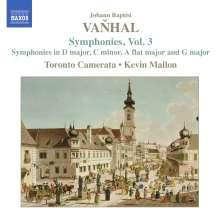 Johann Baptist (Jan Krtitel) Vanhal (1739-1813): Symphonien Vol.3, CD
