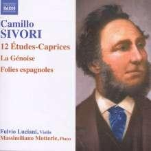 Camillo Sivori (1815-1894): 12 Etudes-Caprices op.25 für Violine solo, CD