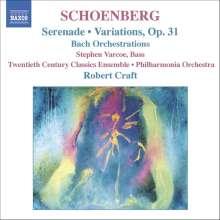 Arnold Schönberg (1874-1951): Serenade op.24, CD