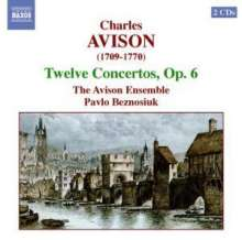 Charles Avison (1709-1770): Concerti grossi op.6 Nr.1-12, 2 CDs