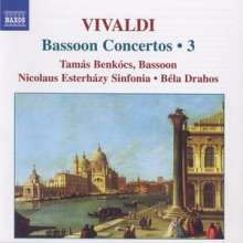 Antonio Vivaldi (1678-1741): Fagottkonzerte Vol.3, CD
