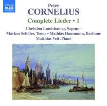 Peter Cornelius (1824-1874): Sämtliche Lieder Vol.1, CD