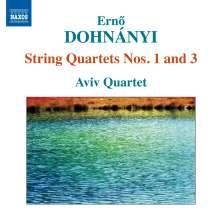Ernst von Dohnanyi (1877-1960): Streichquartette Nr.1 & 3, CD