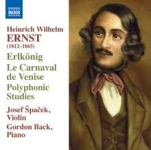 Heinrich Wilhelm Ernst (1814-1865): Werke für Violine & Klavier, CD