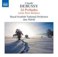 Claude Debussy (1862-1918): Preludes Heft 1 & 2 für Orchester, CD