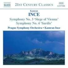 Kamran Ince (geb. 1960): Symphonien Nr.3 & 4, CD
