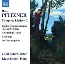 Hans Pfitzner (1869-1949): Sämtliche Lieder Vol.2, CD