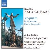 Osvaldas Balakauskas (geb. 1937): Requiem in memoriam Stasys Lozoraitis, CD
