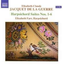 Elisabeth-Claude Jacquet de la Guerre (1665-1729): Pieces de Clavecin (1687), 2 CDs