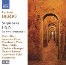Luciano Berio (1925-2003): Sequenzas I-XIV, 3 CDs