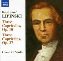Karol Lipinski (1790-1861): Capriccios op.10 Nr.1-3 & op.27 Nr.1-3, CD