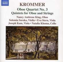 Franz Krommer (1759-1831): Oboenquartette Nr.3, CD