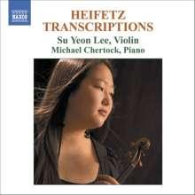 Jascha Heifetz (1901-1981): Transkriptionen für Violine & Klavier, CD