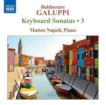 Baldassare Galuppi (1706-1785): Klaviersonaten Vol.3, CD