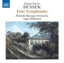 Frantisek Xaver Dussek (1731-1799): Symphonien in G,A,B,B (Altner G4,A3,Bb2,Bb3), CD