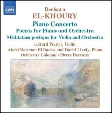 Bechara El-Khoury (geb. 1957): Klavierkonzert op.36, CD