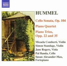 Johann Nepomuk Hummel (1778-1837): Sonate für Cello & Klavier op.104, CD