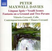 Peter Maxwell Davies (geb. 1934): Linguae Ignis für Cello & Instrumentalensemble, CD