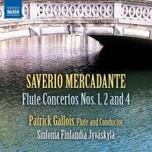Saverio Mercadante (1795-1870): Flötenkonzerte Nr.1, 2, 4 (E-dur, e-moll, G-Dur), CD