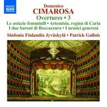 Domenico Cimarosa (1749-1801): Ouvertüren Vol.3, CD