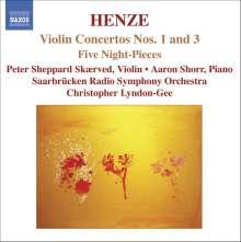 Hans Werner Henze (1926-2012): Violinkonzerte Nr.1 & 3, CD