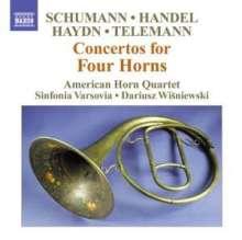 American Horn Quartet - Concertos For Four Horns, CD