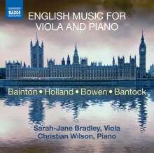 Sarah-Jane Bradley & Christian Wilson - English Music For Viola and Piano, CD
