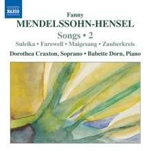 Fanny Mendelssohn-Hensel (1805-1847): Lieder Vol.2, CD