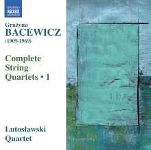 Grazyna Bacewicz (1909-1969): Sämtliche Streichquartette Vol.1, CD