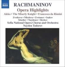 Sergej Rachmaninoff (1873-1943): Die 3 Opern (Ausz.), CD