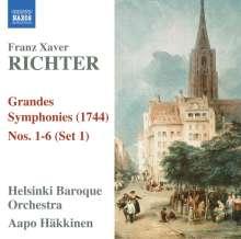 Franz Xaver Richter (1709-1789): Grandes Symphonies I-VI (1744) Set 1, CD
